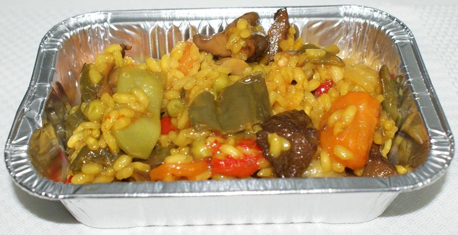 Arroz de verduras con arroz delta del Ebro y caldo de cocción lenta