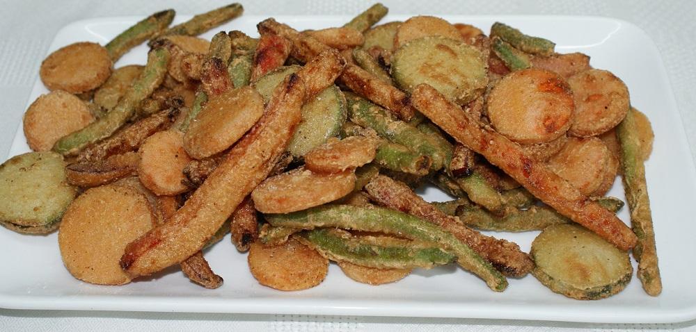 Verduritas en tempura con rebozados al hielo
