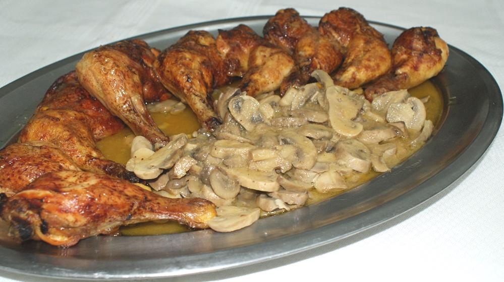 Muslos de pollo al vino rancio y vermut